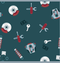 pattern car service repair garage and auto parts vector image
