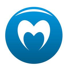 Prophetic heart icon blue vector
