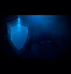 protection shield and technology data security vector image