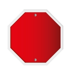 red traffic sign icon vector image
