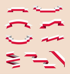 ribbons or banners in colors polish flag vector image