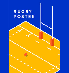 Rugby sport poster vector