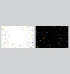 set chaotic random confetti explosion vector image