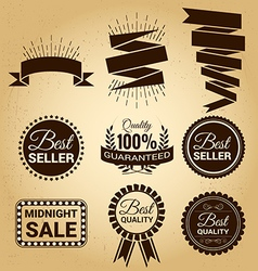 Set of labels vintage for sale concept vector image
