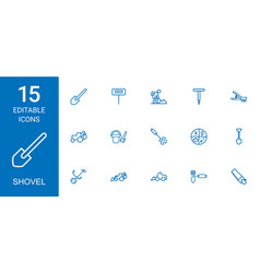 Shovel icons vector