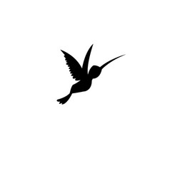 sign silhouette of a hummingbird vector image