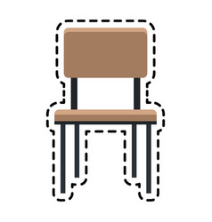 Simple chair icon image vector