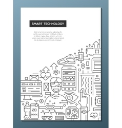 Smart Technology - line design brochure poster vector image