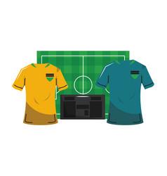 Soccer sport game cartoons vector