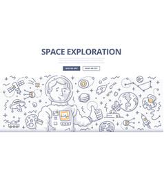 space exploration doodle concept vector image
