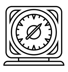 square timer icon outline style vector image