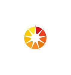 sun letter o logo icon design vector image