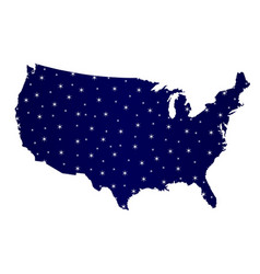 usa map star silhouette vector image