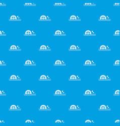 Waterwheel pattern seamless blue vector
