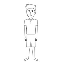 Young man in beach suit vector