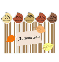Autumn sale background with bar code vector
