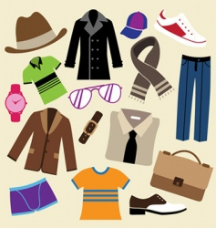 fashion clothes and accessories vector image