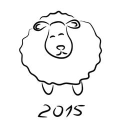 Sheep sketch vector image vector image