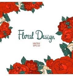 Vintage border with roses vector image vector image