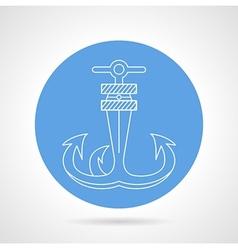Anchor round icon vector image vector image