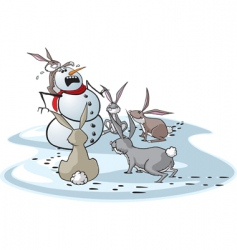 bunny attack vector image