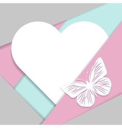 Greeting card in material design style vector image vector image