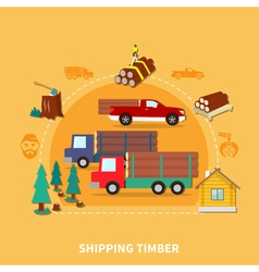Lumberjack Colored Composition vector image