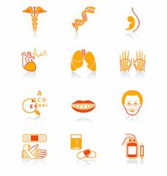 medicine icons juicy series vector image vector image
