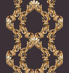 vintage baroque frame decor detailed 3d realistic vector image