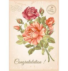 Rose postcard vector image