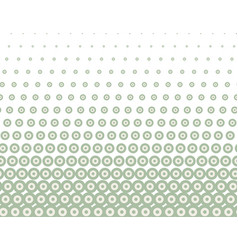 green halftone seamless pattern vector image