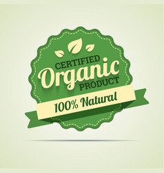 Organic product badge vector image