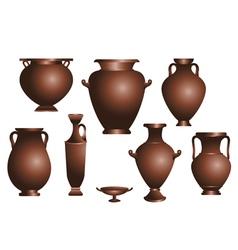 set of amphorae vector image vector image