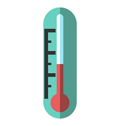 Thermometer isolated flat style vector