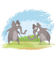 two elephant love vector image vector image