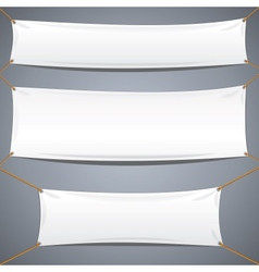 White Textile Banners Advertising Template vector image