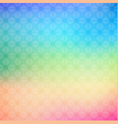 abstract colorful geometric rainbow background vector image