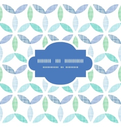 Abstract textile blue green leaves frame seamless vector
