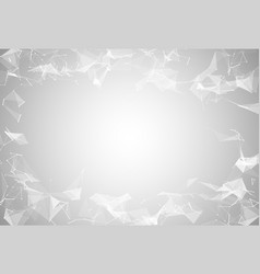 abstract white polygonal connected triangles vector image