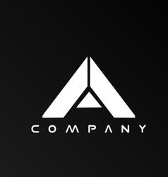 Alphabet letter A logo icon design vector