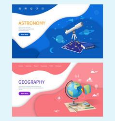 astronomy subject in school geography discipline vector image
