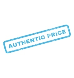 Authentic Price Rubber Stamp vector image