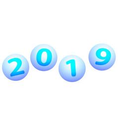 Balls 2019 lettering vector