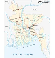 Bangladesch road map vector