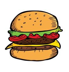 Beef Burger vector