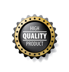 Best quality product sign on white vector