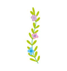 branch flower foliage design icon on white vector image