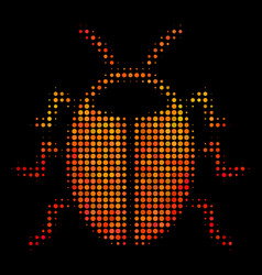 Bright dotted bug icon vector