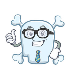 Businessman skull character cartoon style vector