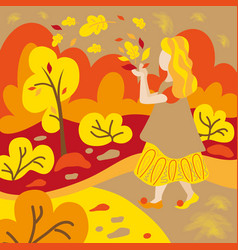 childrens book the autumn woods fairy forest vector image